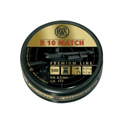 500 Plombs R10 Match Calibre 4.5mm (.177) - RWS - 1