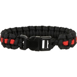 Bracelet Paracorde Fire Rescue simple tressage - Large
