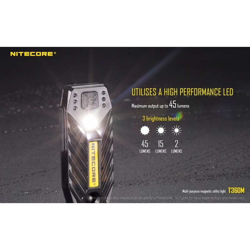 lampe led nitecore t360m rechargeable conditions extremes. Black Bedroom Furniture Sets. Home Design Ideas