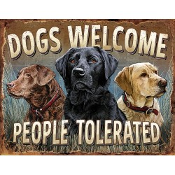Plaque déco Dogs Welcome TIN SIGNS - 1