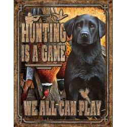 Plaque déco Hunting Is A Game TIN SIGNS - 1